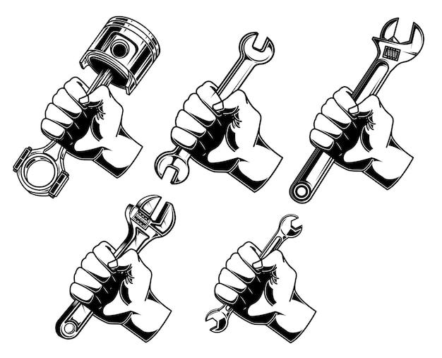 Ręka z kluczem ilustracji