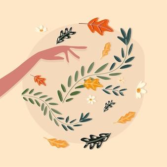 Ręka z kwiatami