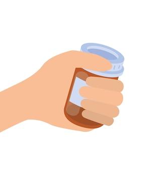 Ręka z lekami medycyny odizolowywającymi