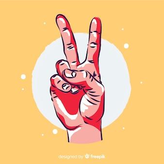 Ręka znak pokoju