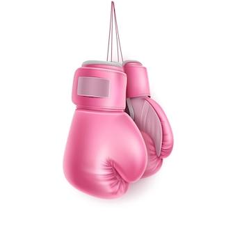Rękawica bokserska wisząca na koronce