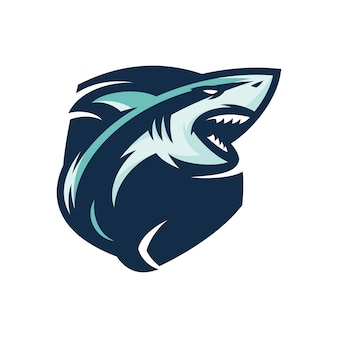 Rekin - wektor logo / ikona ilustracja maskotka