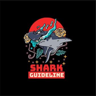 Rekin z ilustracją ośmiornicy