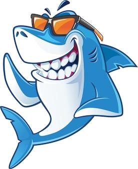 Rekin z okularami przeciwsłonecznymi