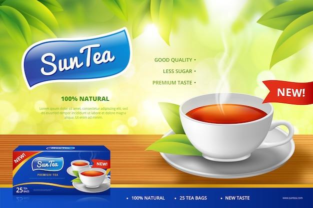 Reklama filiżanki herbaty