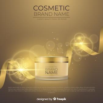 Reklama kosmetyczna o realistycznym designie