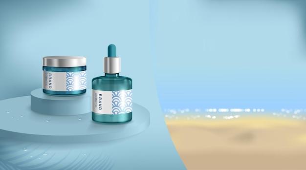 Reklama kremu i sprayu z filtrem przeciwsłonecznym