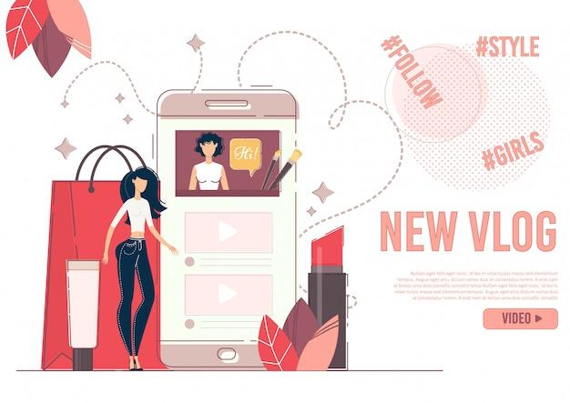Reklama nowego sztandaru fashion beauty