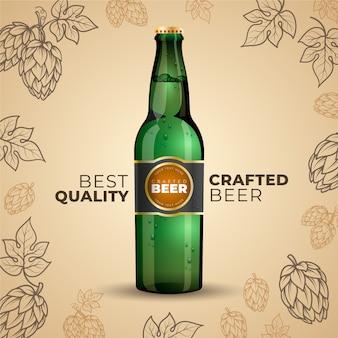 Reklama piwa z rocznika ilustracji