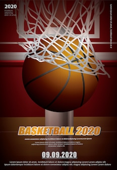 Reklama plakatu koszykówki