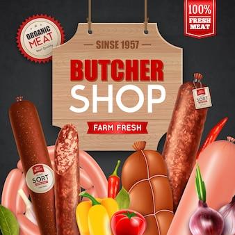 Reklama w sklepie mięsnym
