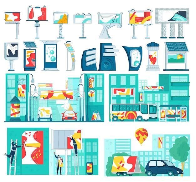 Reklamowe zestaw elementów biznesowych