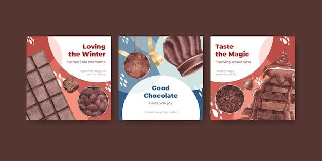 Reklamuj szablon z czekoladą