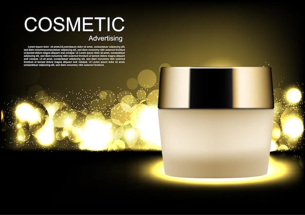 Reklamy kosmetyczne wektorowe krem na noc