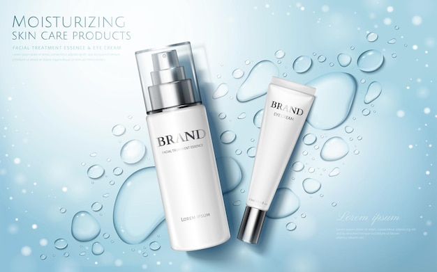 Reklamy produktów do pielęgnacji skóry nawilżającej
