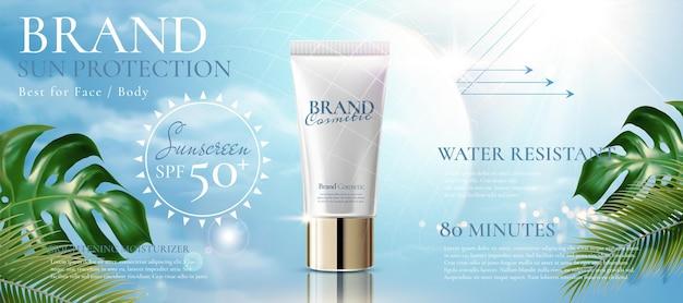 Reklamy produktów z filtrem przeciwsłonecznym