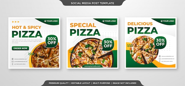 Reklamy w mediach społecznościowych w czystym i minimalistycznym stylu