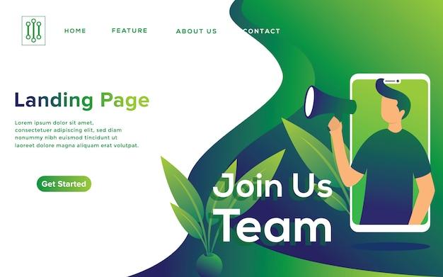 Rekrutacja online ilustracja koncepcja