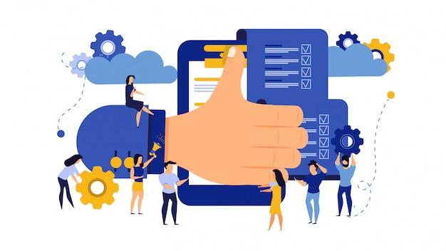 Relacja biznesowa uznania dokumentu współpracy ilustracja.