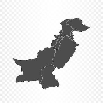 Renderowanie mapy pakistanu na białym tle