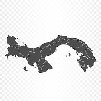 Renderowanie mapy panamy na białym tle
