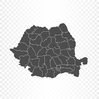Renderowanie mapy rumunii na białym tle