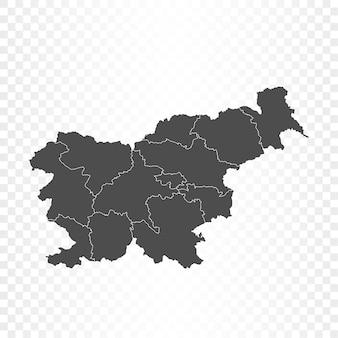 Renderowanie mapy słowenii na białym tle