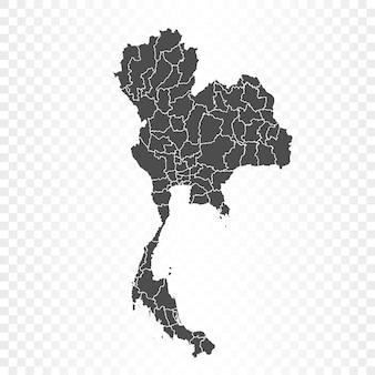Renderowanie mapy tajlandii na białym tle
