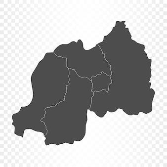 Renderowanie na białym tle mapy rwandy