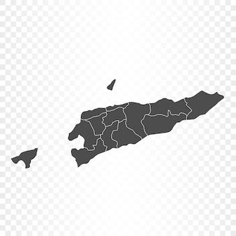 Renderowanie na białym tle mapy timoru wschodniego