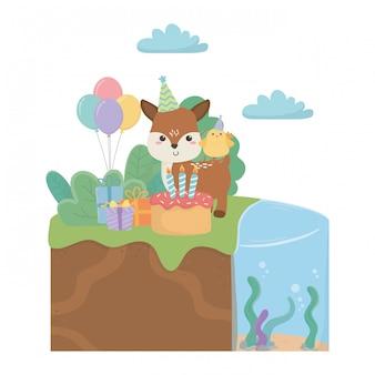 Renifer i kurczak z okazji urodzin