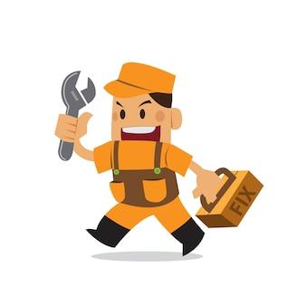Repairman kreskówka słodka.