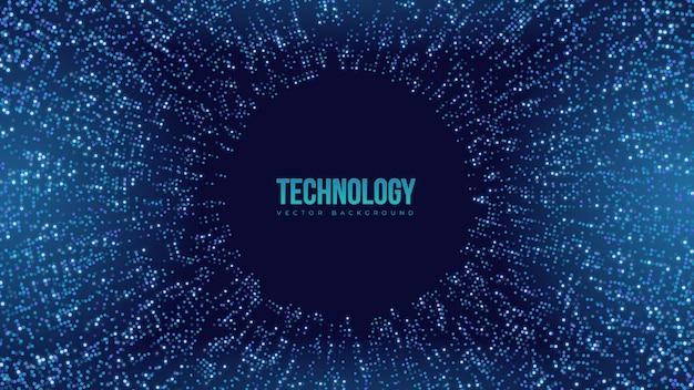 Reprezentacja danych wizualizacja informacje cloud computing futurystyczny technologia tło