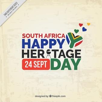 Republika południowej afryki dziedzictwo tle