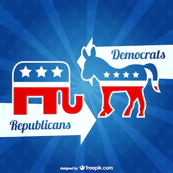Republikanie i demokraci wektor