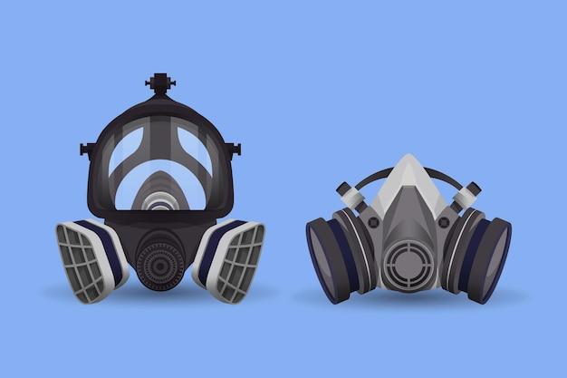 Respirator z maską gazową
