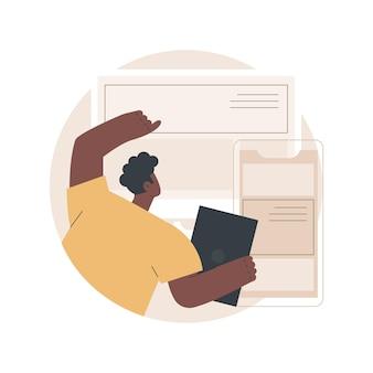 Responsywna ilustracja projektowania stron internetowych