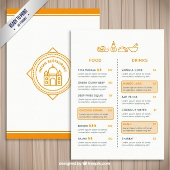 Restauracja indyjska szablonu