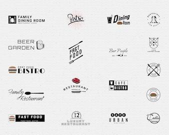Restauracja odznaki logo i etykiety