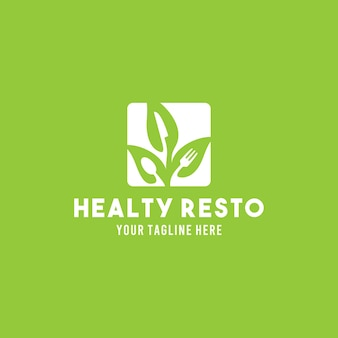 Restauracja płaski projekt symbolu logo ilustracja szablon