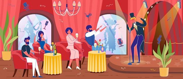 Restauracja z programem rozrywkowym lub kabaretem.