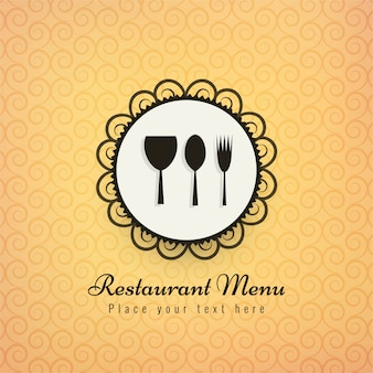 Restauracyjnych ikon tła wektoru kolorowa ilustracja