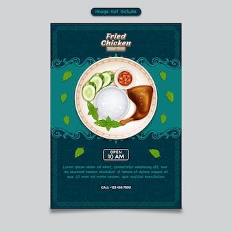 Restauran flyer clasic tło z ornamentem ramki