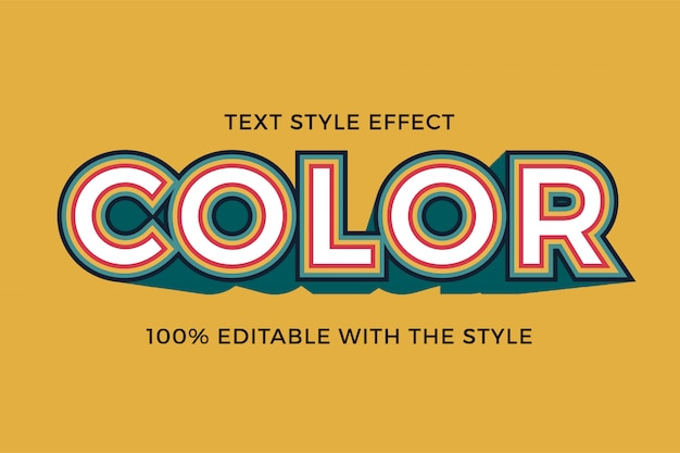 Retro 3d pogrubiony tekst styl efekt