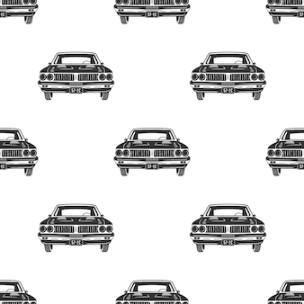 Retro auto bez szwu. wzór rocznika samochodu.