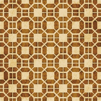 Retro brązowy islam bezszwowe geometria wzór tła ornament w stylu wschodnim