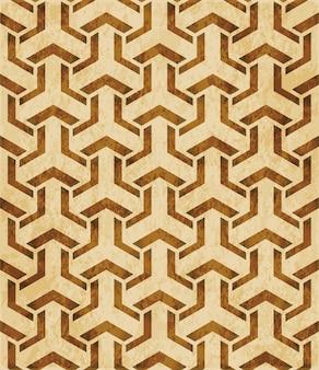 Retro brązowy islam bezszwowe geometria wzór