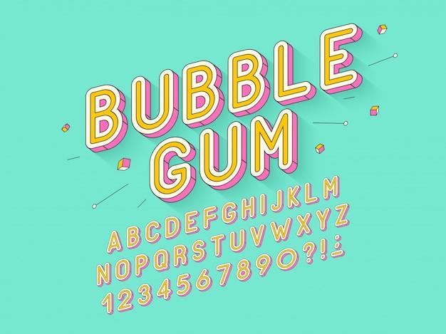 Retro bubble gum pogrubiona czcionka