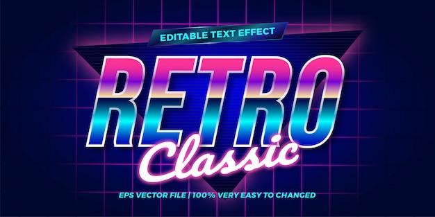 Retro classic koncepcja edytowalny efekt tekstu