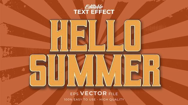 Retro cześć letni tekst w stylu grunge